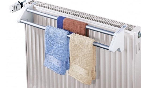 Support de serviettes radiateur salle de bains