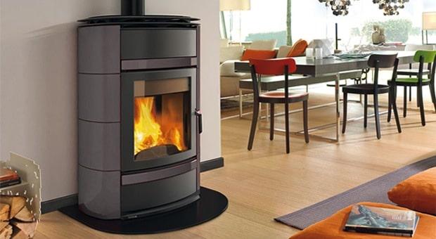 Poêle à bois à chauffage central