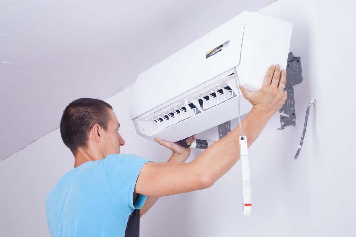 placer pompe à chaleur air air unité intérieure